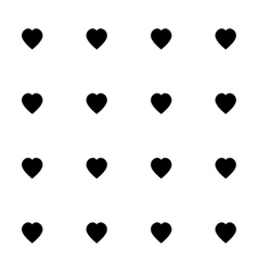 Seamless pattern with black hearts for web print vector image