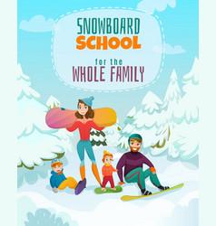 snowboard school vector image