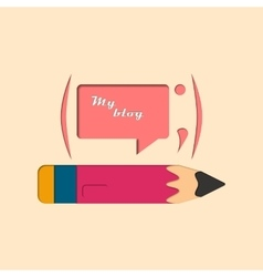 Social Blog vector image