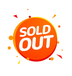 Sold out banner tag soldout sign isolated label vector