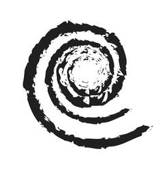 Spiral icon grunge texture vector image