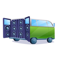 Stereo car music system icon cartoon style vector