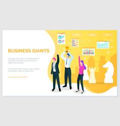 success banner winner vision reaching goal vector image