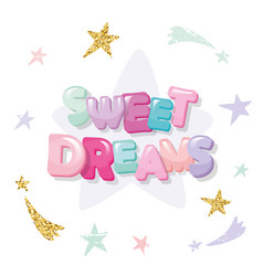 sweet dreams cute design for pajamas sleepwear t vector image