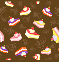 Sweet tasty pieces vector