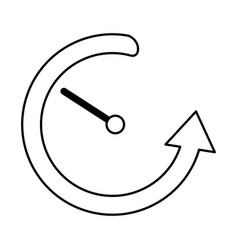 time with arrow around vector image