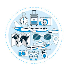 travel around world vector image