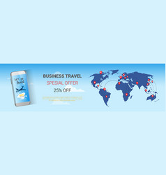 Travel company sale banner business tour special vector