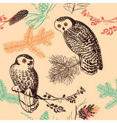 Vintage animal patterns vector image vector image