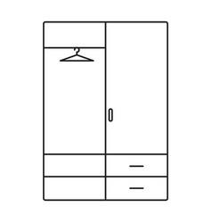 Wardrobe line icon vector
