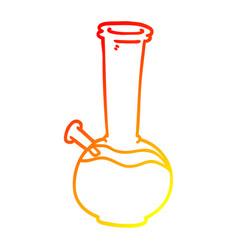warm gradient line drawing cartoon bong vector image