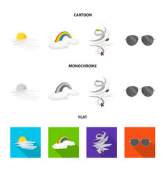 Weather and climate sign vector