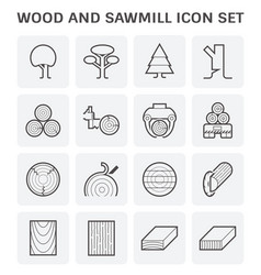 Wood sawmill icon vector