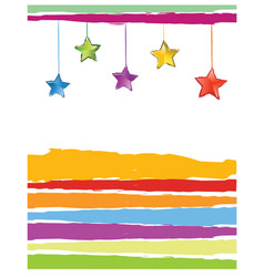 Xmas card color stars vector