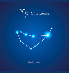 Zodiac constellation capricorn the goat vector