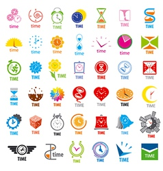 biggest collection of logos time vector image