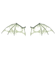 decayed bat wings vector image vector image