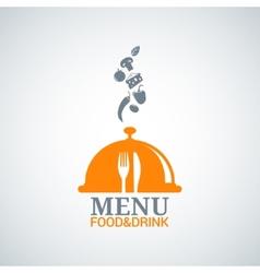 menu design food drink dishes background vector image vector image