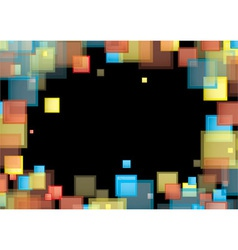 Square rainbow frame vector image vector image
