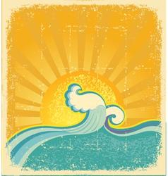 Sunrise seascape vector