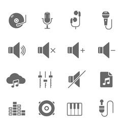 Icon set - audio vector image