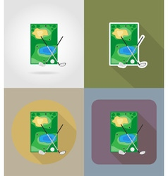 Sport flat icons 65 vector