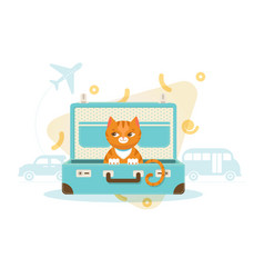 colorful travel with pets concept vector image