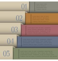 Design template in retro colors vector image