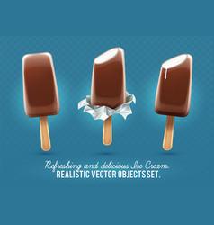 ice-cream chocolate vanilla vector image