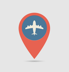 map pin airport vector image vector image