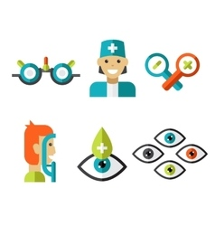 Optical Icons Ophthalmology set vector image vector image