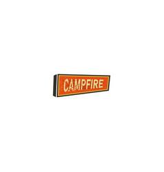 vintage hand drawn camping sign travel badge - vector image