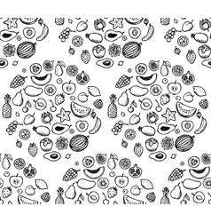 Fruit doodle seamless pattern vector