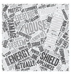house energy shield text background wordcloud vector image