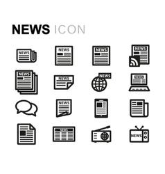 line news icons set vector image