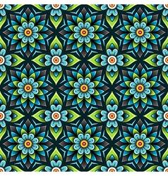 pattern rosette blue vector image