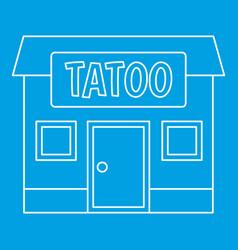 Tattoo salon building icon outline vector