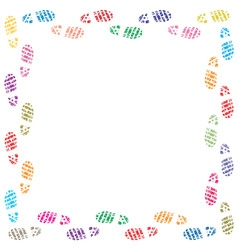 vector illustration of foot prints border vector image vector image
