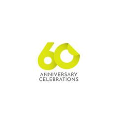 60 years anniversary celebration logo icon vector