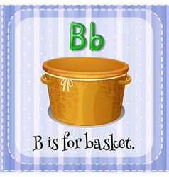 A letter B for basket vector