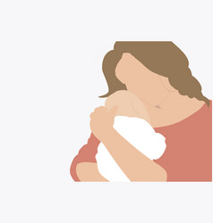 A mother holding her newborn bain arms vector