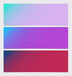 Abstract halftone dot pattern horizontal banner vector