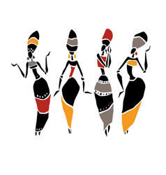 African beautiful women vector
