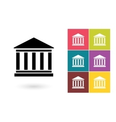 Bank icon or bank symbol vector