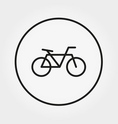 bicycle icon editable thin line vector image