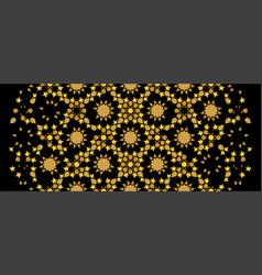 Black and golden islamic arabic decorative pattern vector