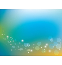 Blue and yellow background with bokeh vector