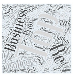Business colleges Word Cloud Concept vector