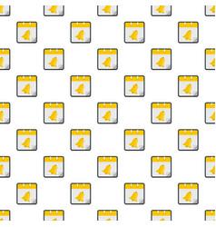 Calendar school pattern seamless vector