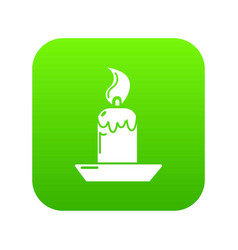 candle icon green vector image